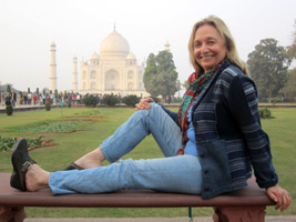 MarBeth at the Taj